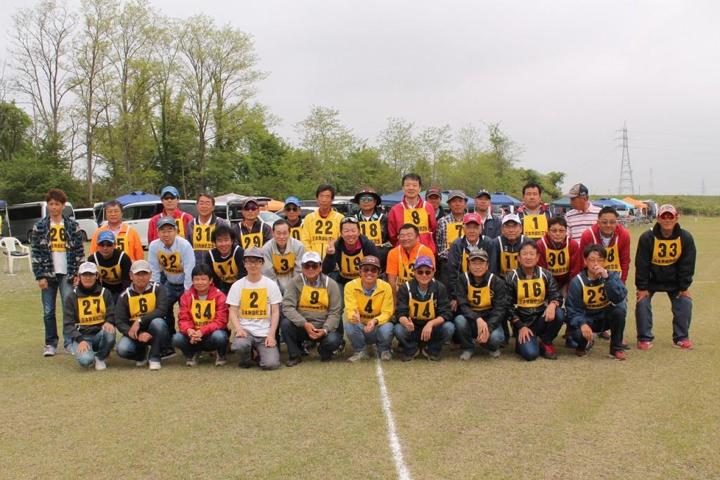 当日参加選手34名、集合記念写真