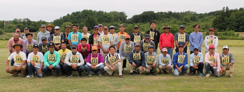 18日(日)の参加選手全員の集合写真。