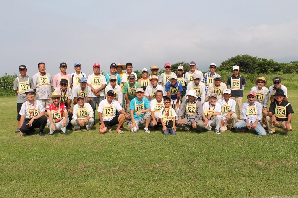 16日(日)の参加選手全員の集合写真。